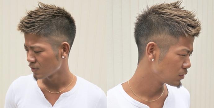 メンズ,髪型,ボウズ,黒髪,ツーブロック