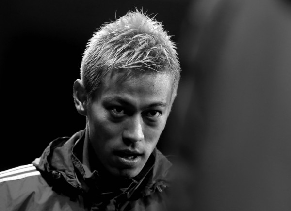 PLZEN, CZECH REPUBLIC - DECEMBER 10: Keisuke Honda of PFC CSKA Moscow looks on before the UEFA Champions League group D match between PFC CSKA Moscow and Viktoria Plzen at Doosan arena on December 10, 2013 in Plzen, Czech Republic. (Photo by Matej Divizna/Getty Images)