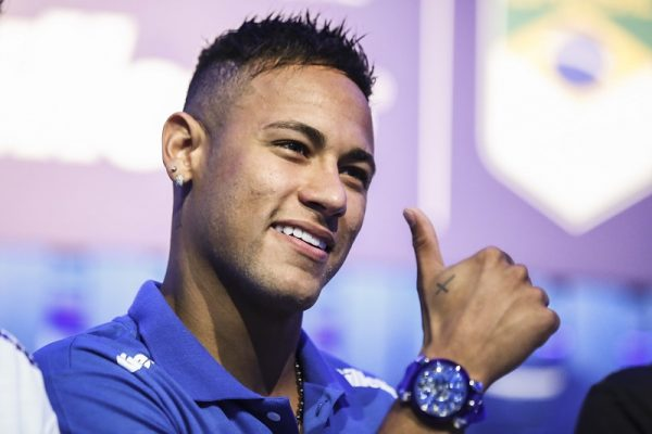 Neymar Jr and Thiago Pereira Attend an Sponsorship Event For Rio 2016