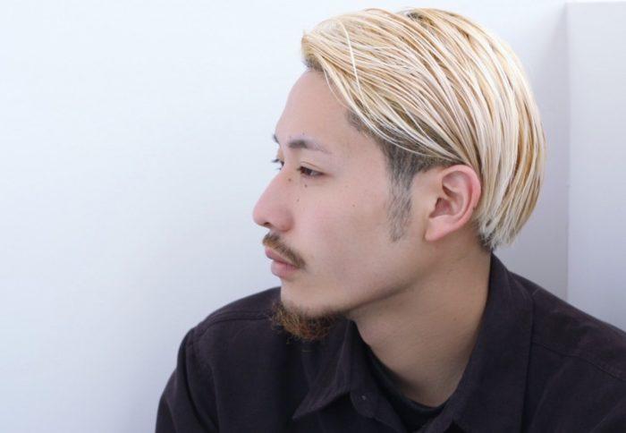 ゴールドヘア×ツーブロック