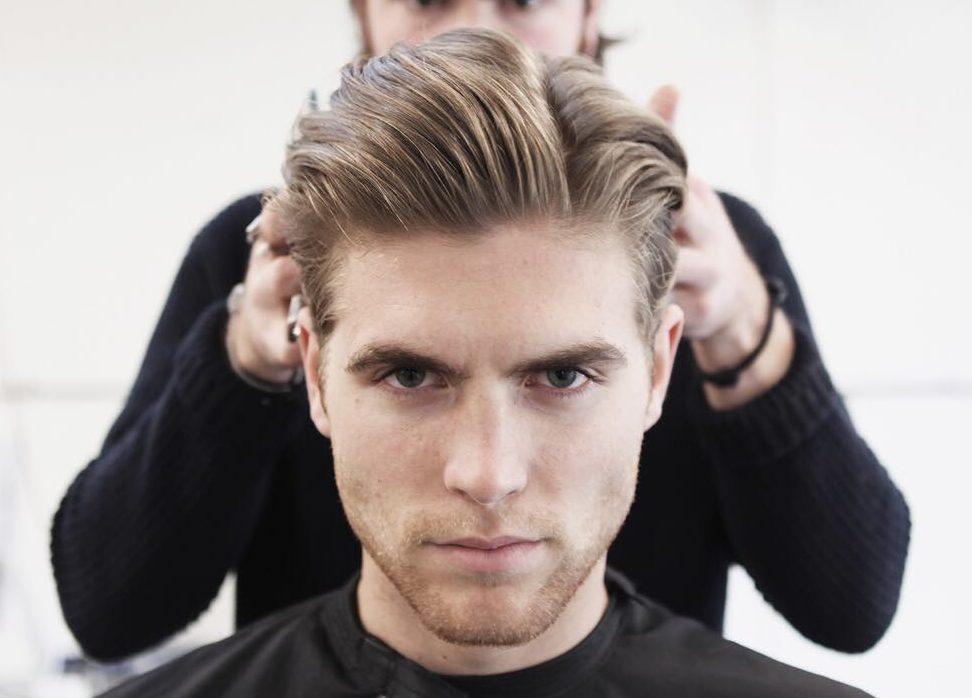 定番オールバックヘアのセット方法