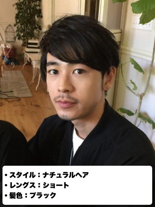 成田凌の黒髪ナチュラルヘア