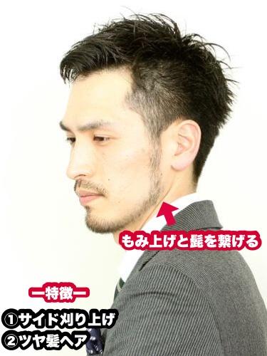 ツヤ髪×サイド刈り上げ